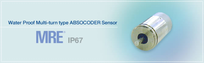 Water Proof Multi-turn type ABSOCODER Sensor MRE®
