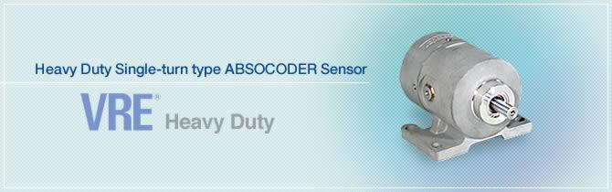 Heavy Duty Single-turn type ABSOCODER Sensor VRE®